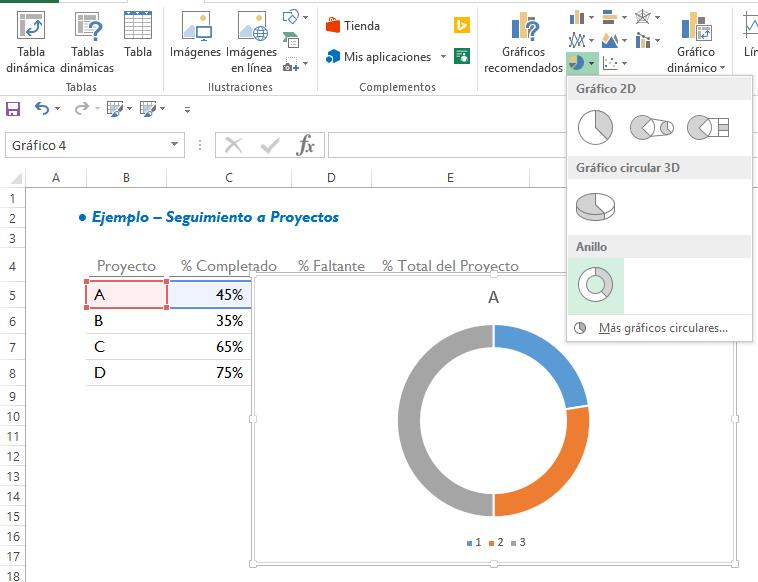 Gráfico de Barras Circular - Excel Free Blog