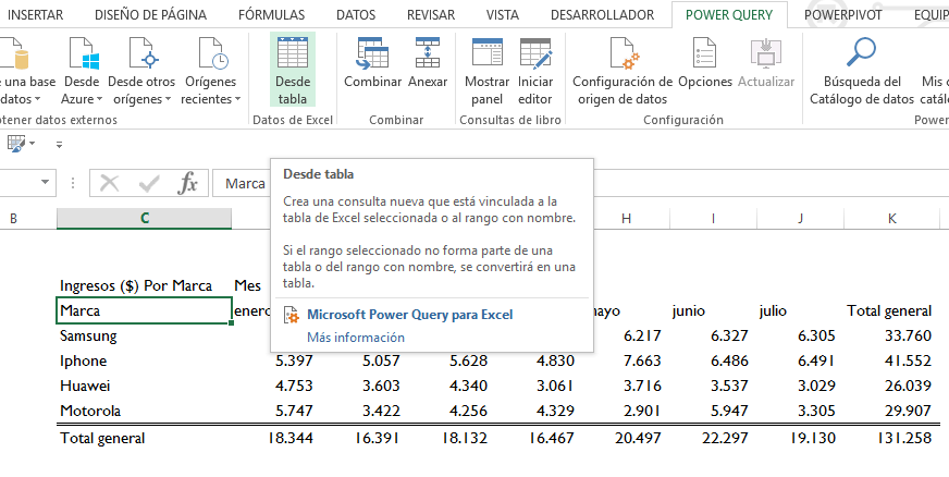 Formato Tabla Dinámica A Tabular Power Query