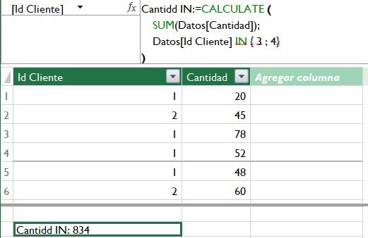 Cómo indicar varias condiciones en FILTER (Operador IN en DAX)